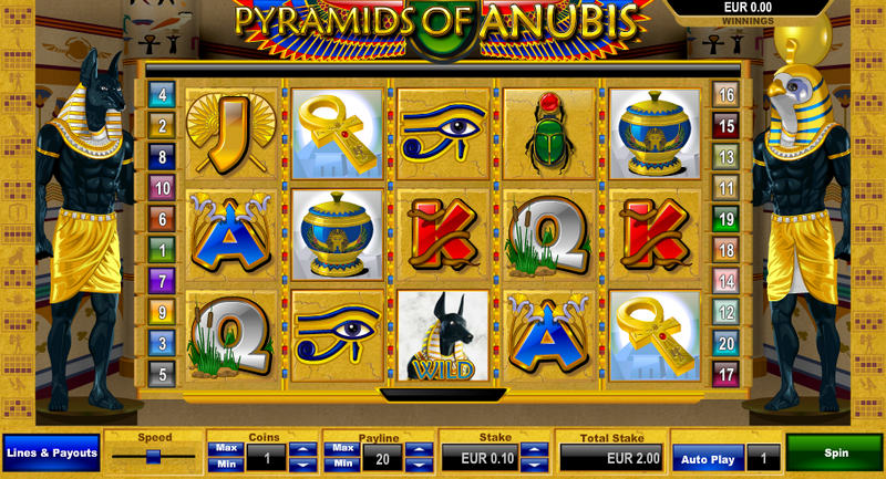 Pyramid of Anubis Entry Screen