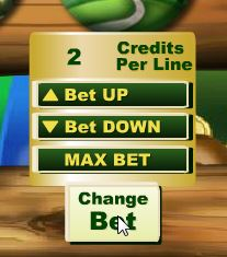 Irish Luck Change Bet Button