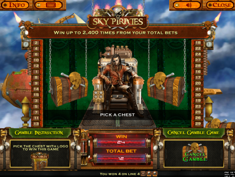 Sky Pirates Gamble Game Feature