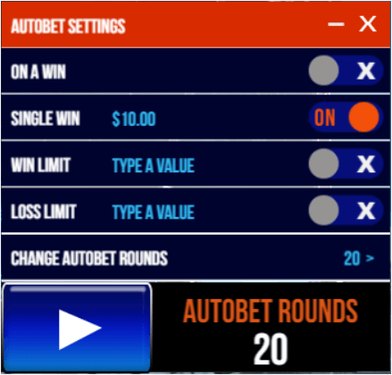 Asteroids auto-bet settings panel.png