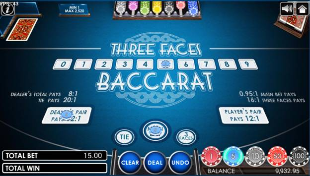 Three Faces Baccarat game selecting betting options.jpg