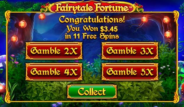 Fairytale Fortune gambling feature selection