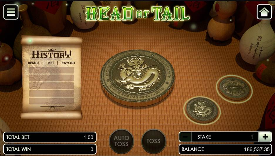 Head or Tail opening the game