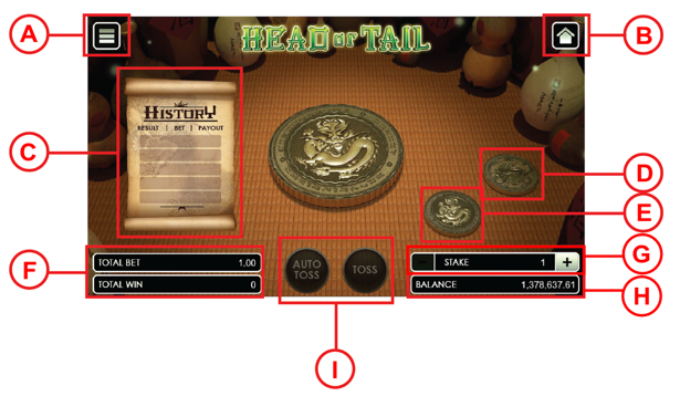 Head or Tail user interface