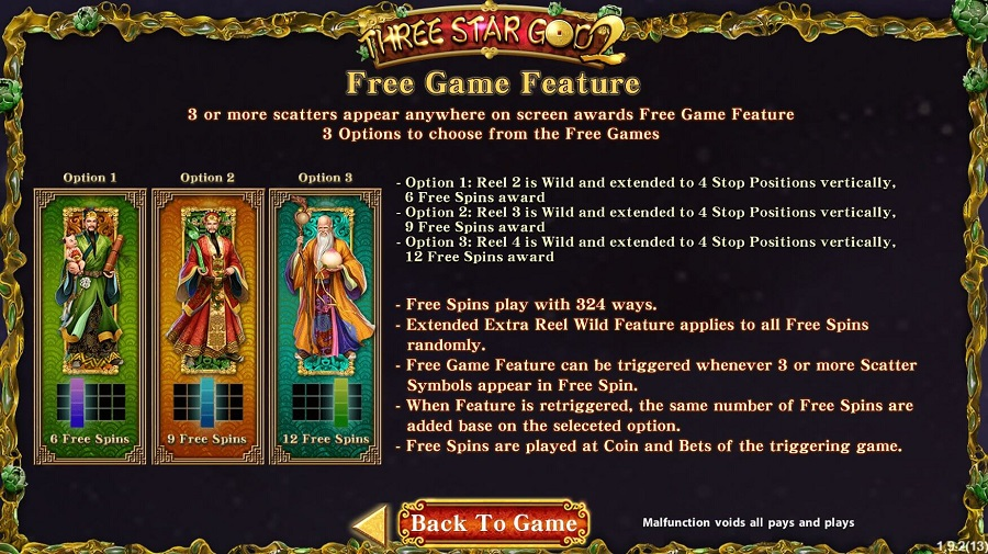 Three Star God Free Game Feature