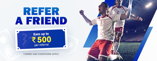 Invite your friends to join the fun at SBOBET and earn INR 500 of SBOBET Voucher per friend.
