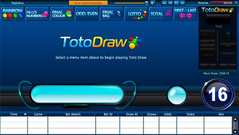 Toto Draw Entry Screen