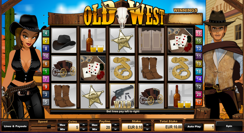 Old West Entry Screen