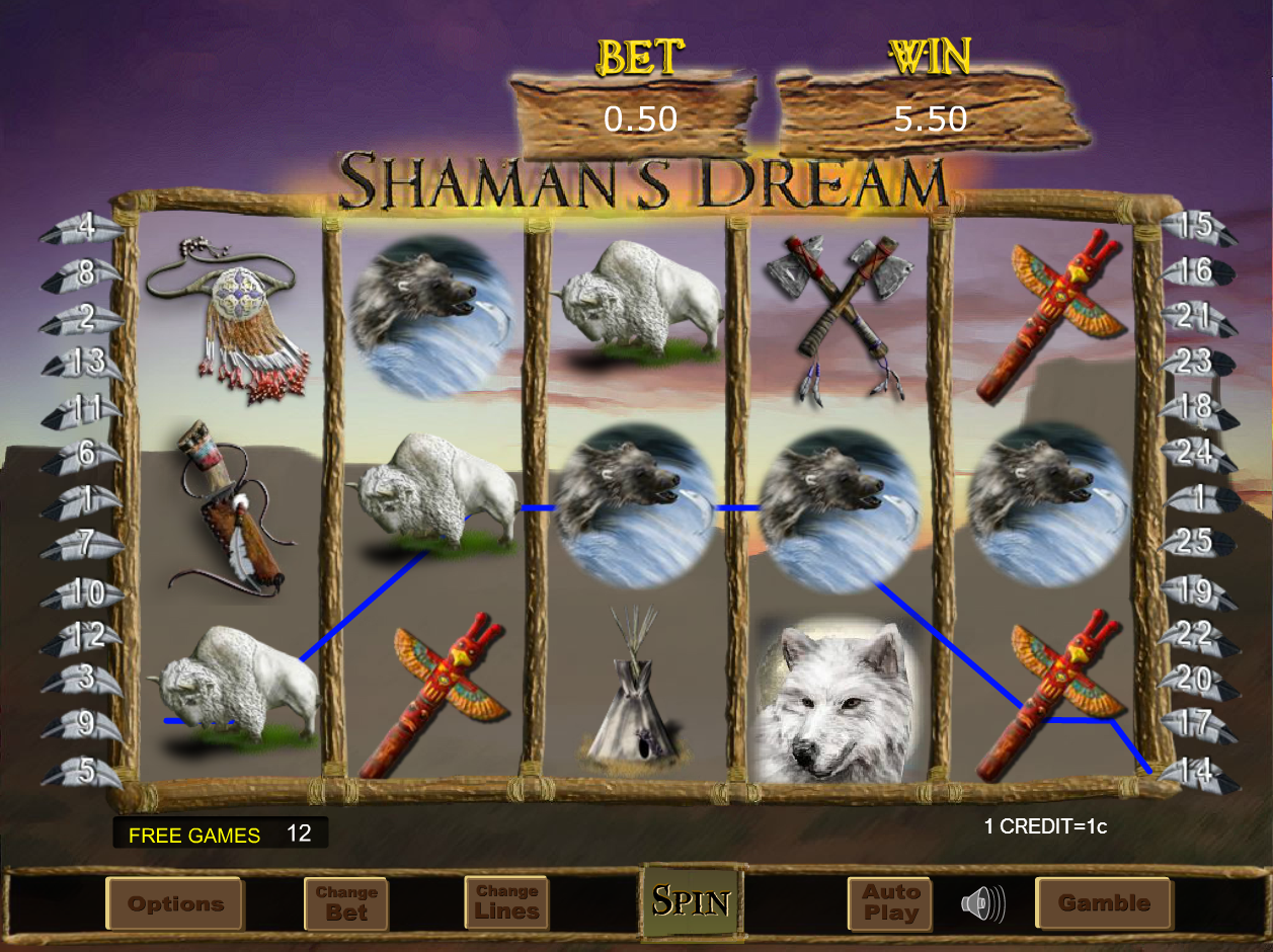 Shaman's Dream in Free Games