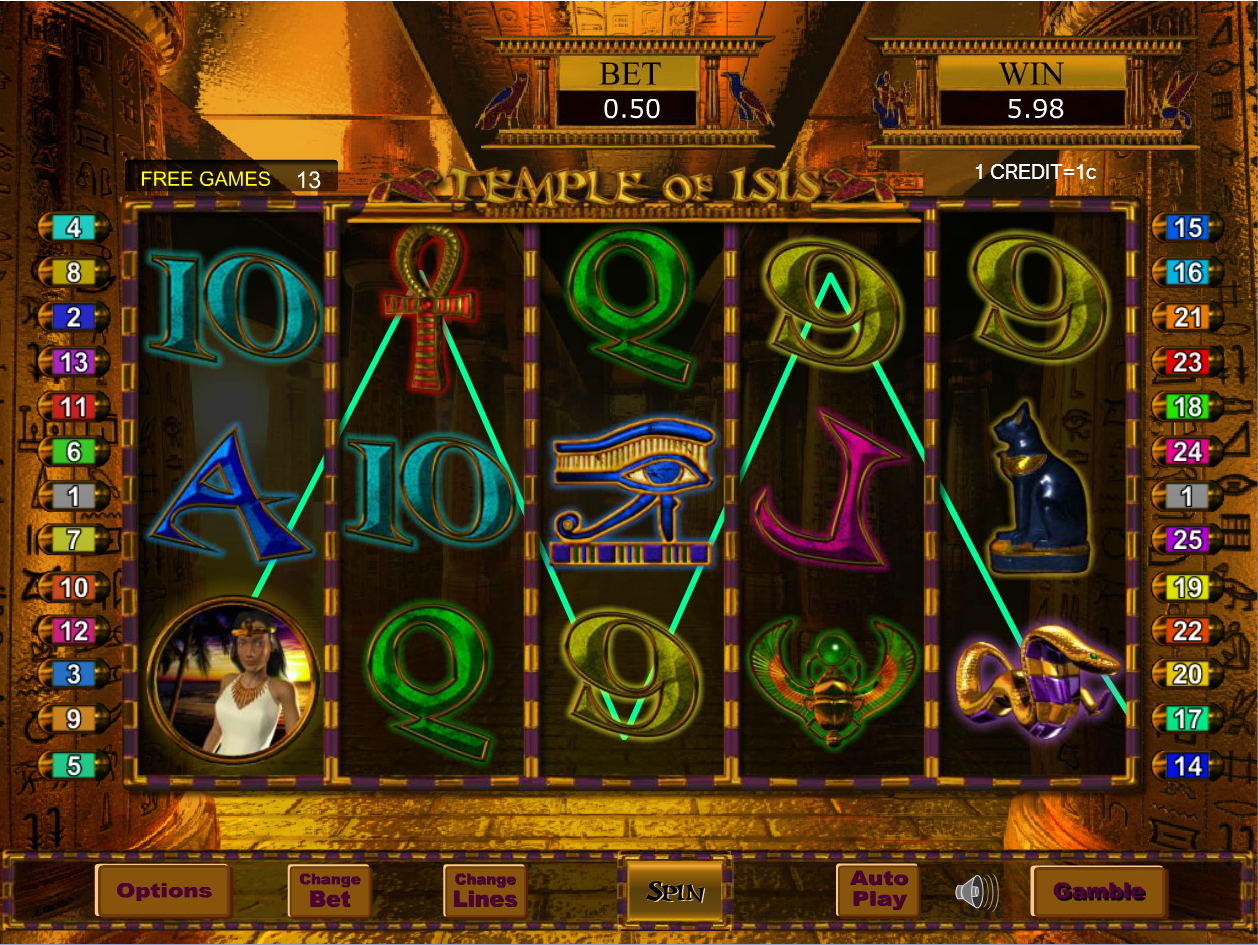 Temple of Isis in Free Games