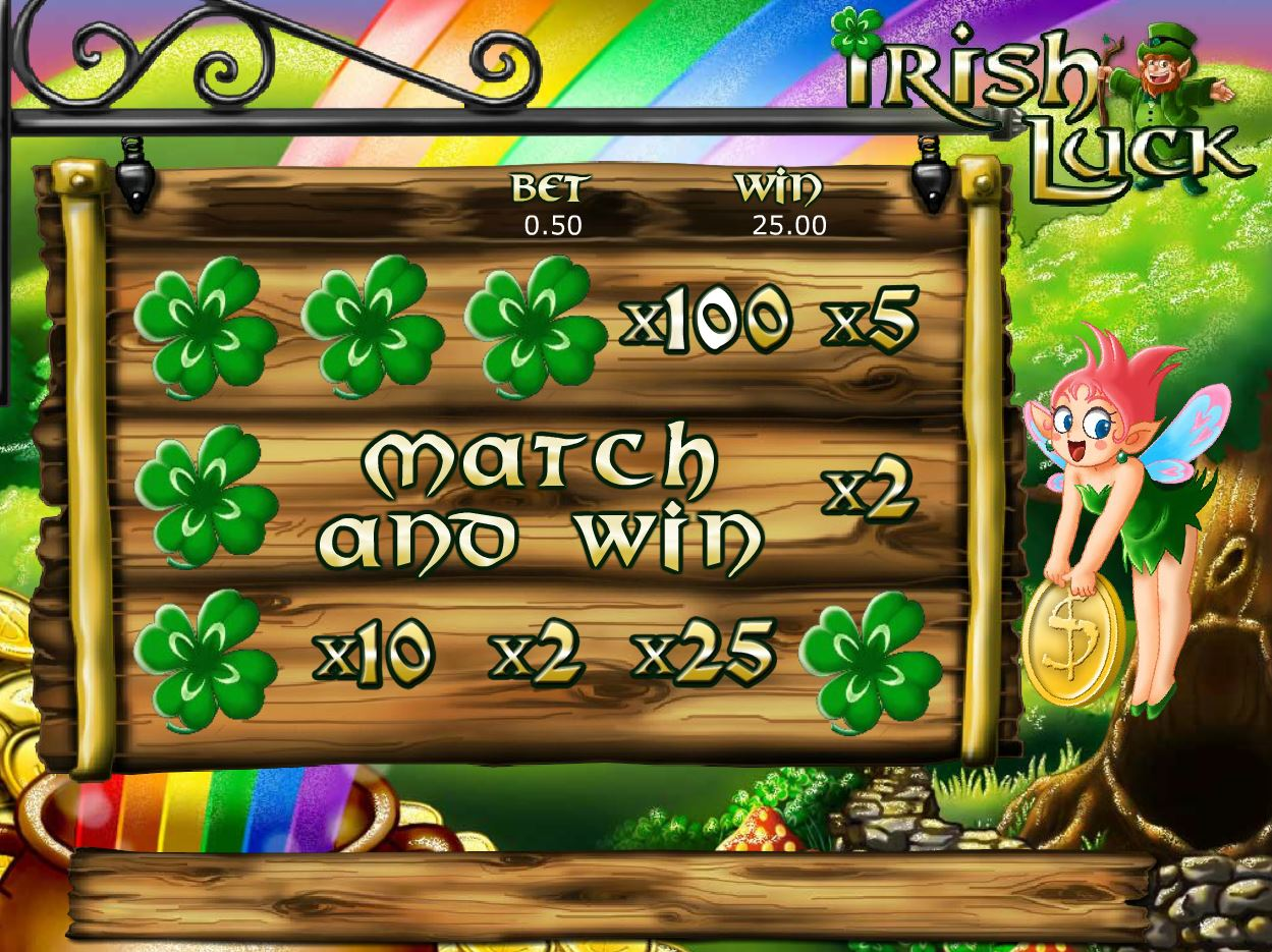 Irish Luck in Match and Win