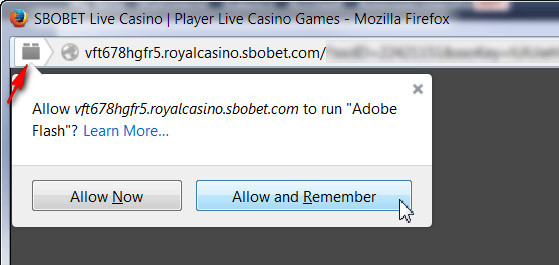 Firefox Allow and Remember Adobe Flash
