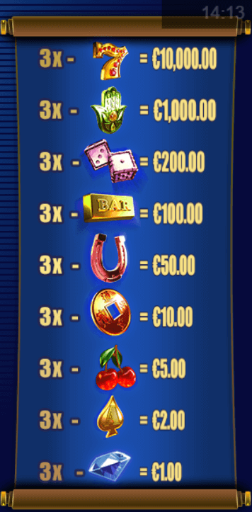 Royal Charm pay table.png