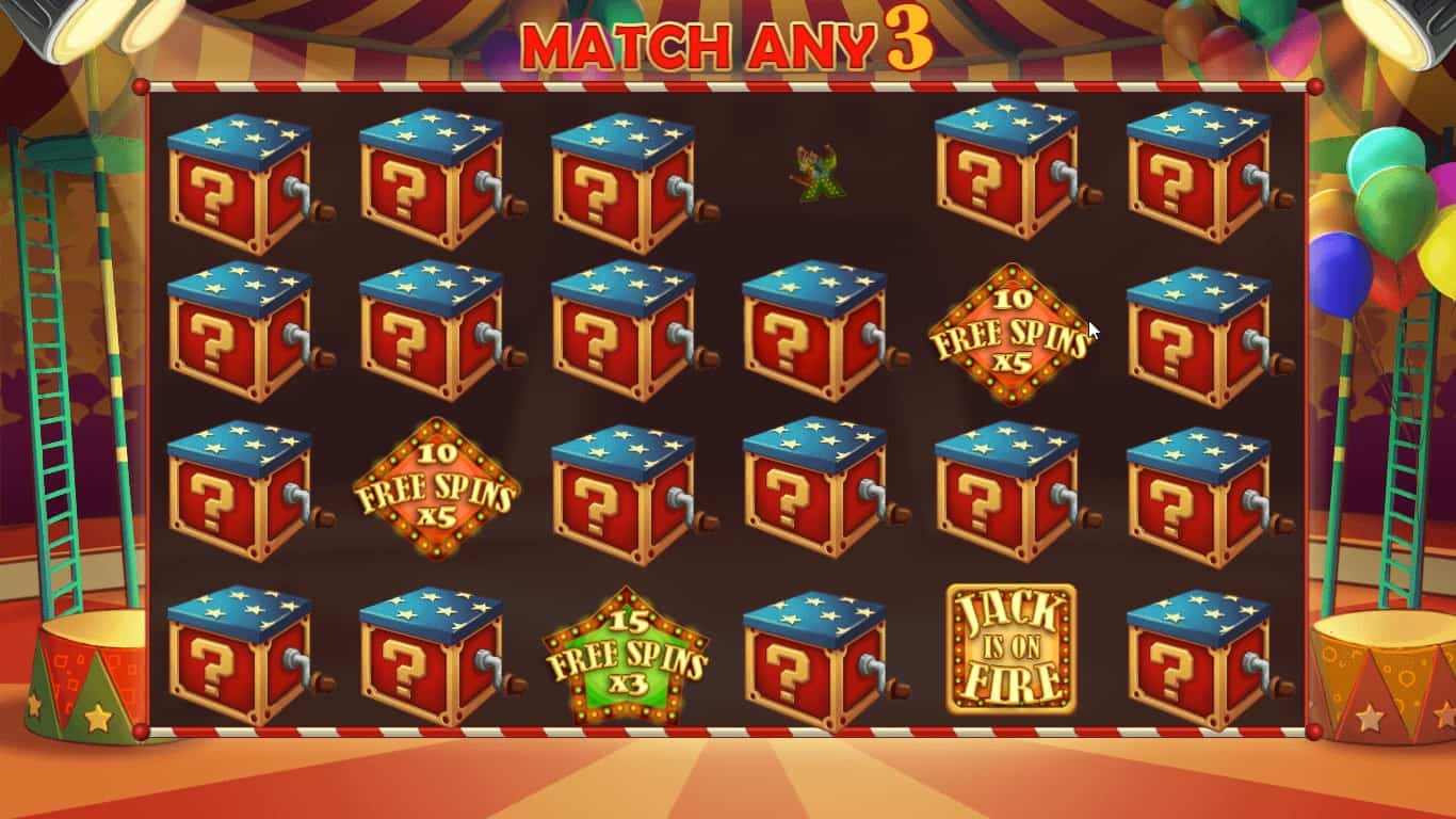 Jack In The Box Bonus Game Match Game