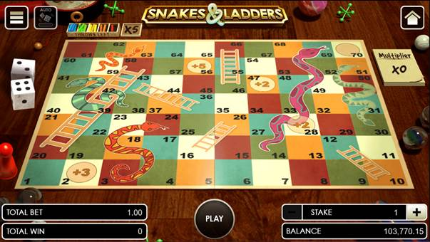 Snakes and Ladders opening the game