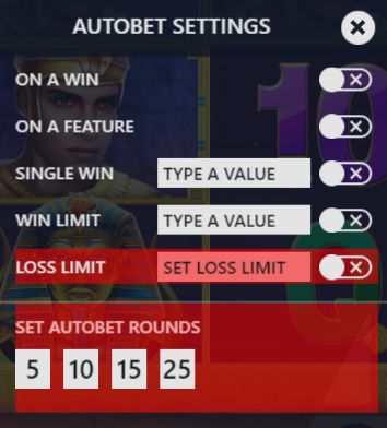 Luxor autobet settings for UK players