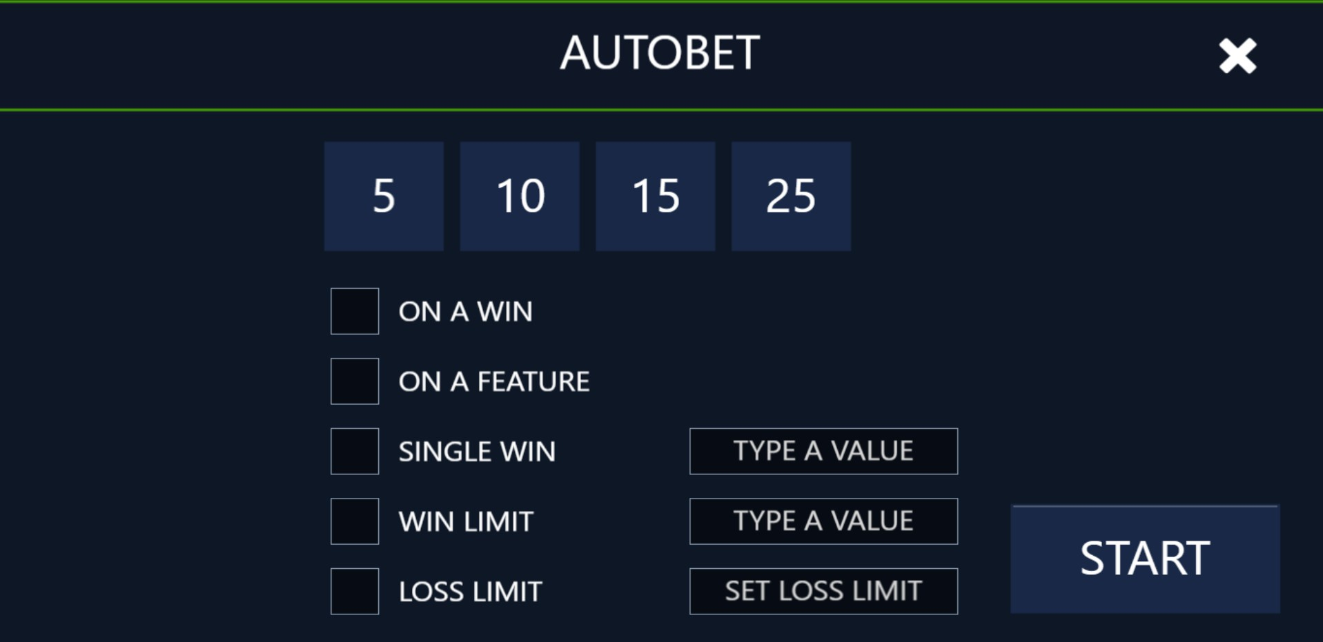 Luxor set autobet rounds