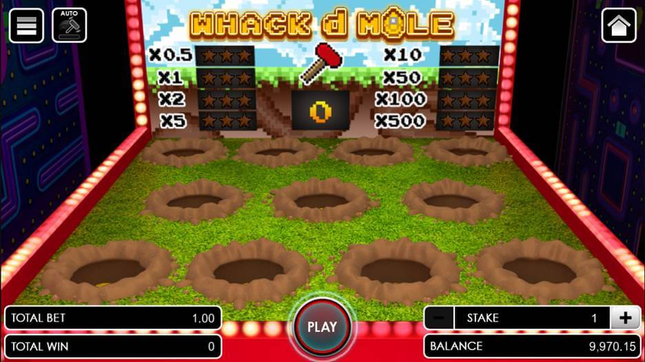 Whack d Mole opening the game