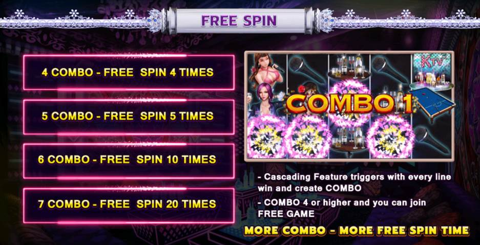 Enter the KTV combo and free spin feature