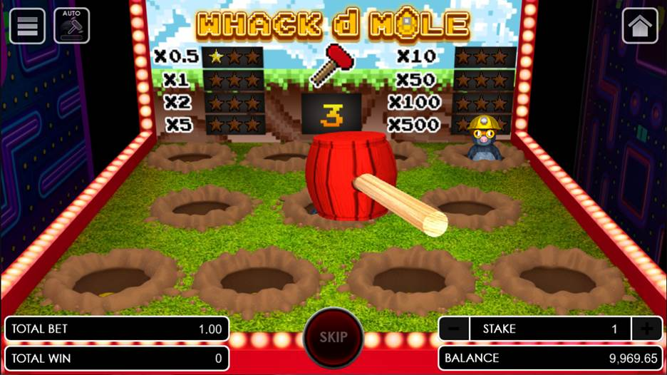 Whack d Mole game scene