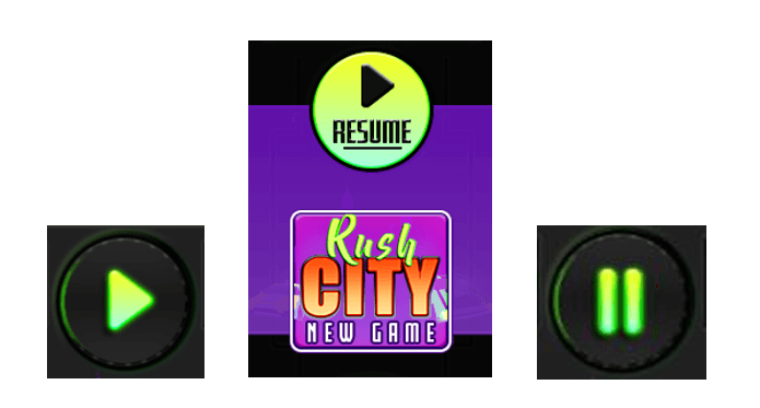 Rush City action buttons