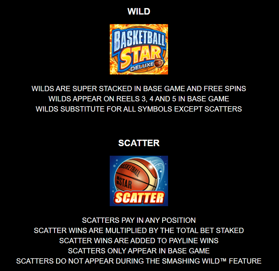Basketball Star Deluxe Wild Feature