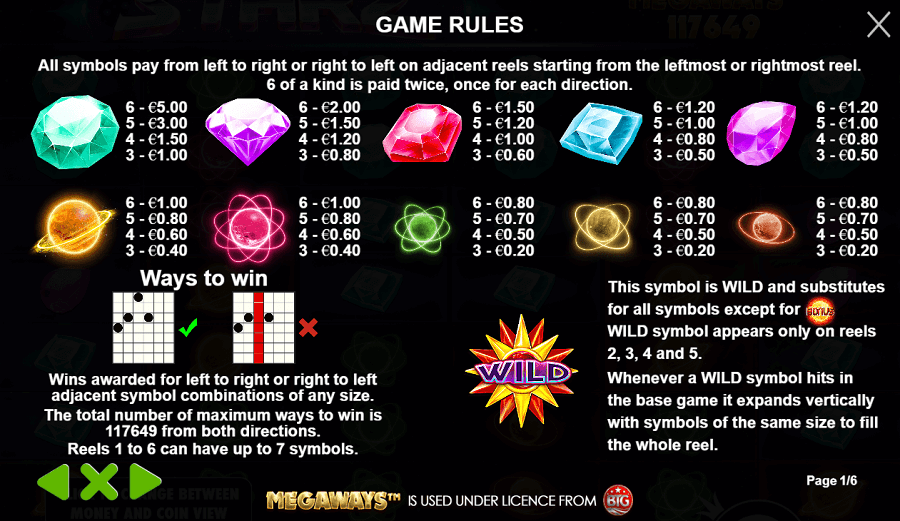 Starz Megaways_Game Rules
