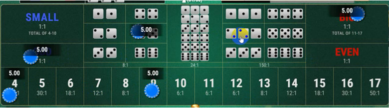 SBOBET Casino Games - Sic Bo Multiplayer Placing a Bet